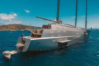 anchoring sailing yacht A