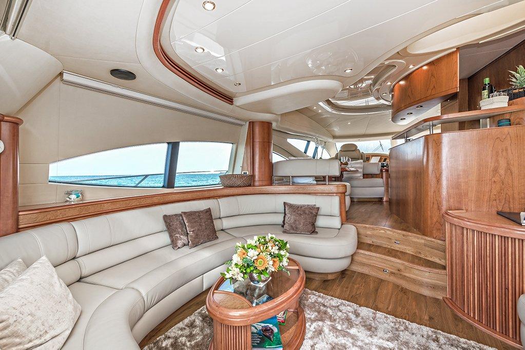 ibiza and mallorca crewed yacht charter azimut 68 evolution
