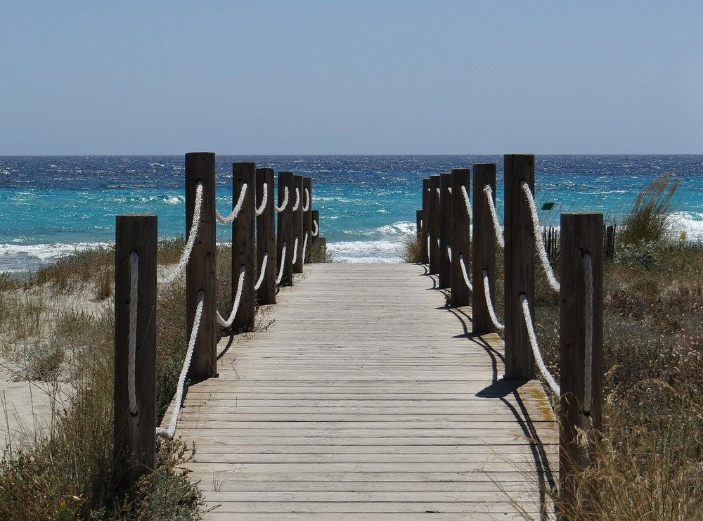 beach formentera balearic islands