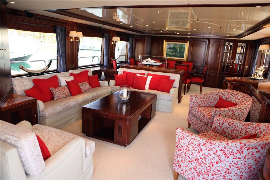 saloon benetti yacht rental ibiza mallorca