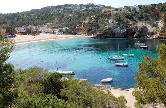 coves for anchor ibiza yacht charter cala vedella