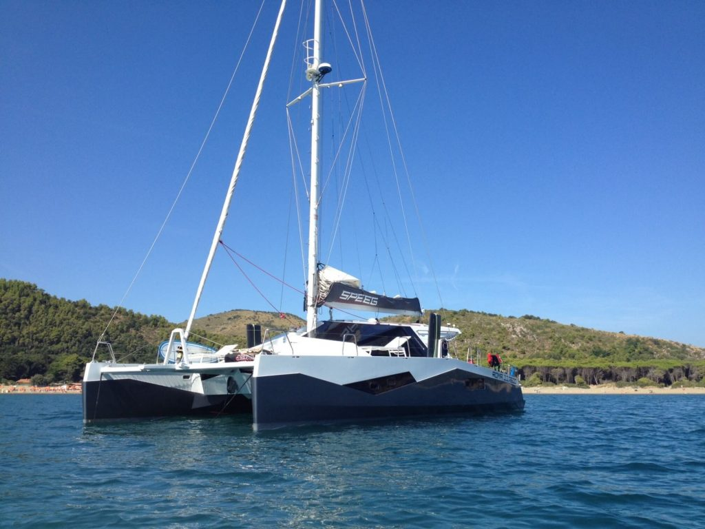ibiza catamaran charter diamante 555