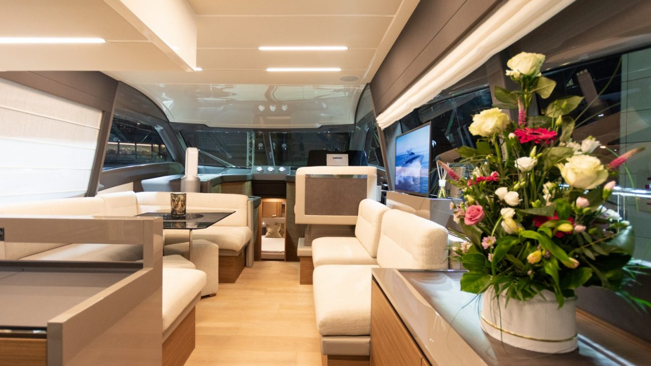 saloon ferretti 550 fly yachts for rental mallorca balearic islands