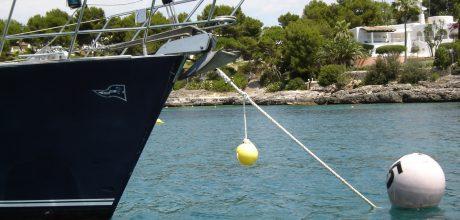 poseidonia sailing boat buoy in mallorca