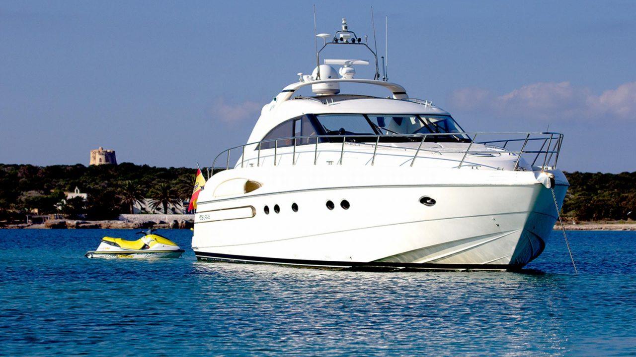 ibiza luxury yachts princess v65 manzana