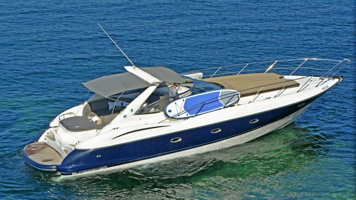 motor yacht rental ibiza sunseeker 44 camargue