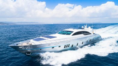 tecnomar 120 motor yacht charter Ibiza
