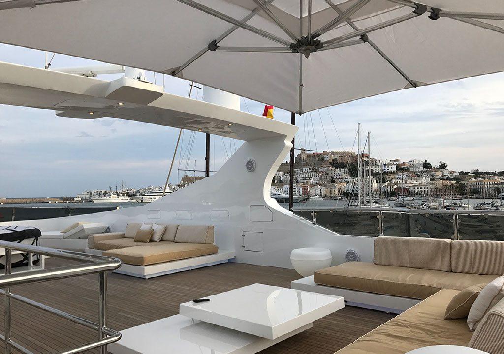 flybridge yacht ibiza