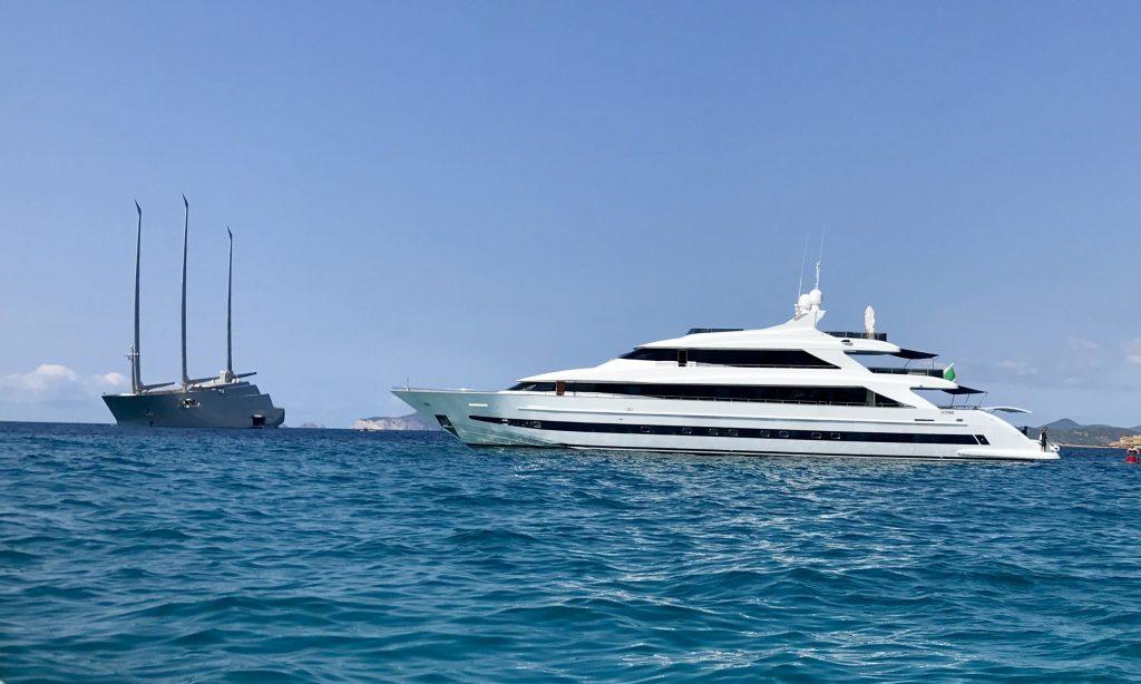 motor yacht rental tecnomar 44m ibiza mallorca
