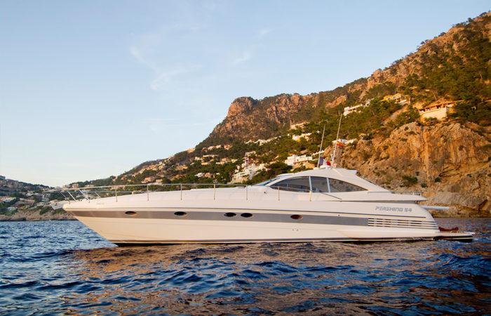 pershing 54 isabella crewed boat charter