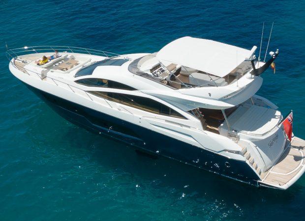 sunseeker 80 seawater motor boat charter mallorca
