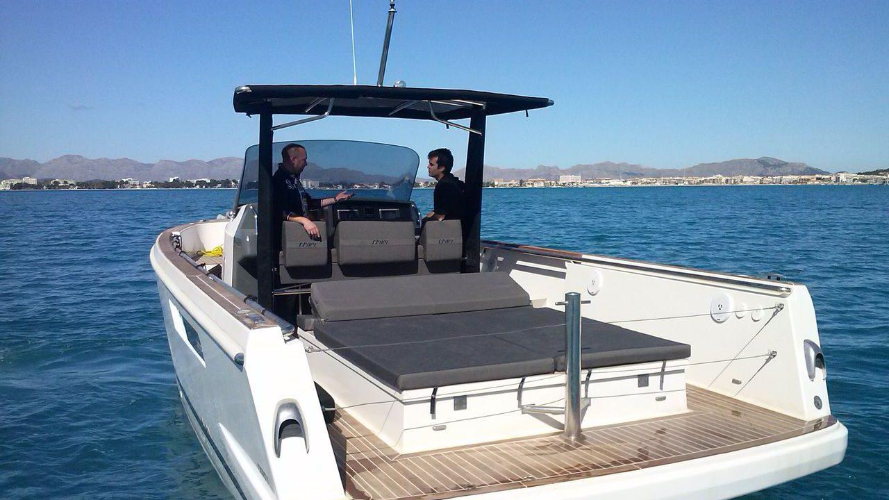 boat charter alcudia mallorca fjord 36