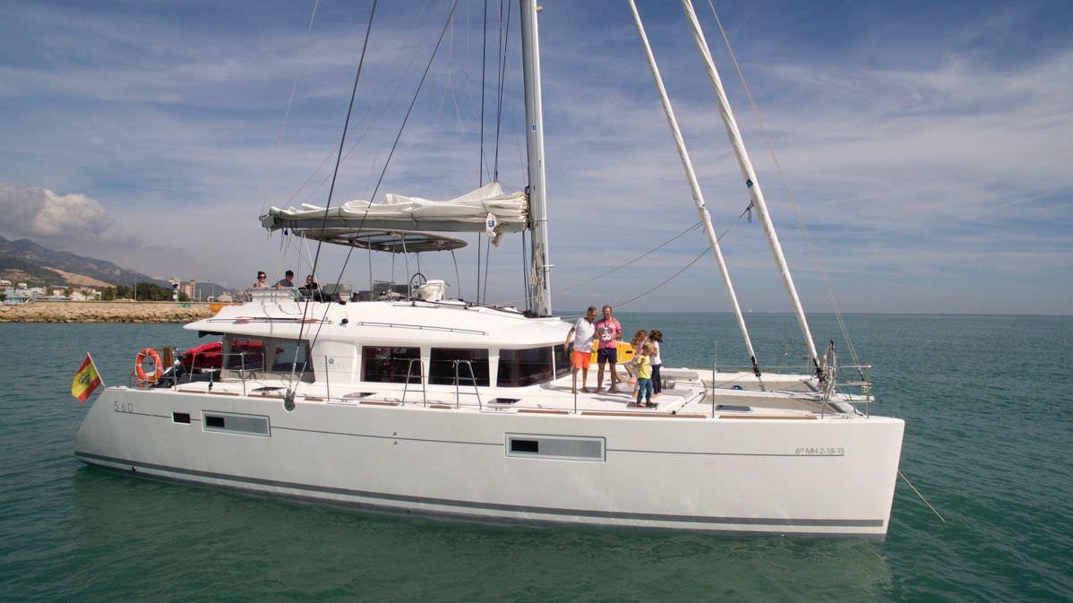charter rental catamarans mallorca ibiza lagoon 56 big gani