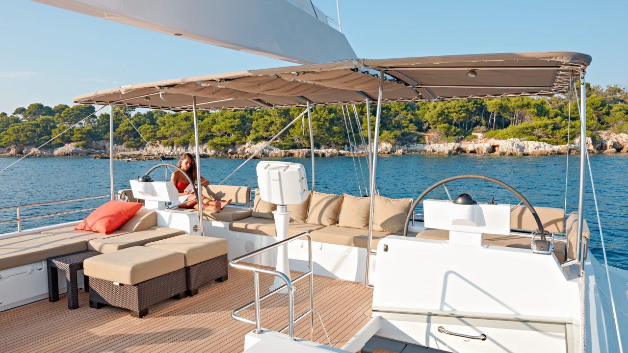 mallorca ibiza catamaran charter rental lagoon 620 firefly