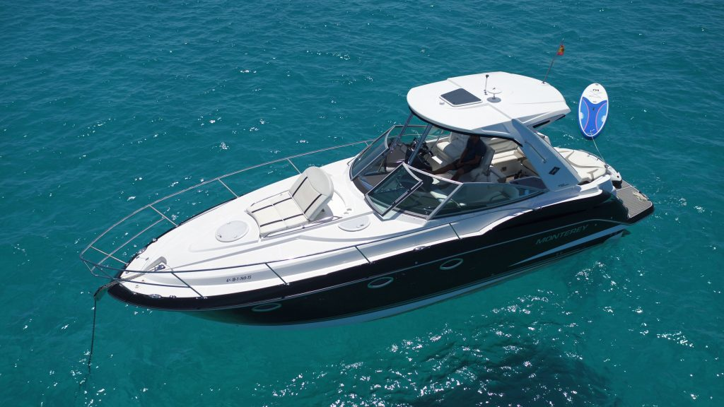 motor boat charter ibiza monterrey 355