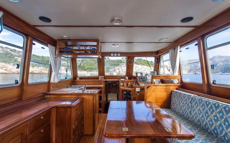 alquiler barco llaut mallorca andratx myabca 45