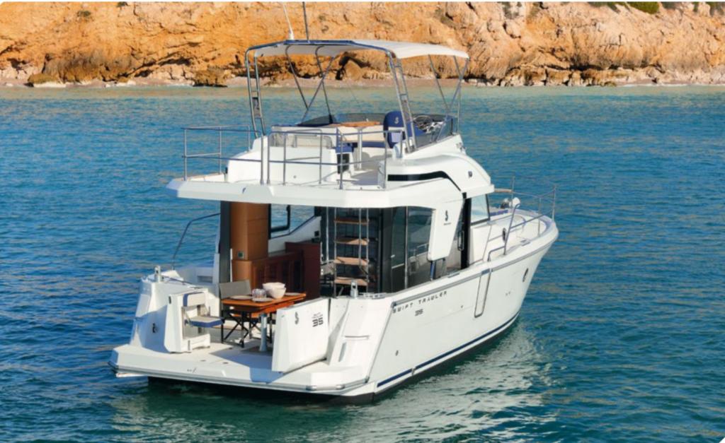 menorca boat charter motor beneteau trawler 35 carmen