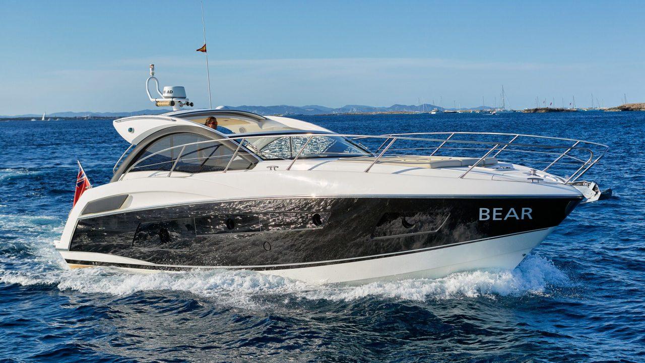 charter motor yachts ibiza sunseeker 43 portofino bear