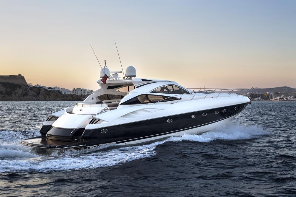 ibiza crewed yacht charter sunseeker 68 charlie fox